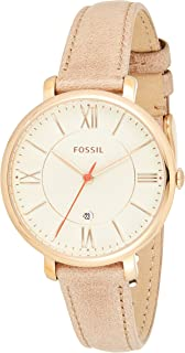 Fossil Women's Es3487 Jacqueline Three Hand Leather Watch Camel
