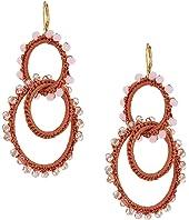 Rebecca Minkoff Thread Wrapped Interlocking Hoop Earrings