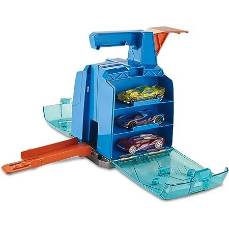 Mattel Hot Wheels-Track Builder Contenedor Lanzador, tramos y Accesorios para Pistas de Coches de Juguetes, Multicolor GCF92