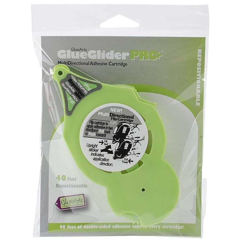 Glue Arts GlueGlider Pro Plus Repositionable Refill Cartridge, 0.25-Feet x 40-Feet