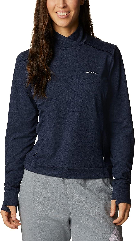 Columbia Women's Plus Size Weekend Adventure Pullover, Dark Nocturnal Heather, 3X