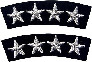 Uniforme de la Marina de Cuatro Estrellas Bordados Decorativos de Hierro de Moda en Parche Cosido, Astilla, Pack de 2