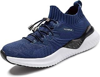VITIKE Garçons Filles Mesh Sneaker Outdoor Athletic Slip sur des Chaussures de Course décontractées Baskets légères