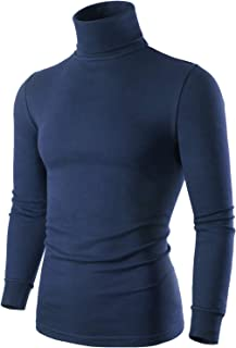 Men's Turtleneck Pullover Sweaters, Long Sleeve Mock Turtleneck Shirt for Men, Black White Navy Blue Grey Yellow Brown