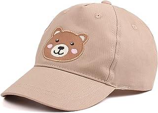 XIAOHAWANG Coton Enfant Casquette Broderie Ours Lapin Chapeau pour Bébé Fille Garçon Chapeaux De Soleil 2-10 Ans