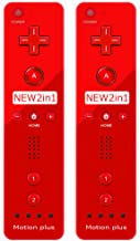 $35 » (2 Packs) - Remote Motion Plus Controller for Nintendo Wii & Wii U Video Game Gamepads (Red)