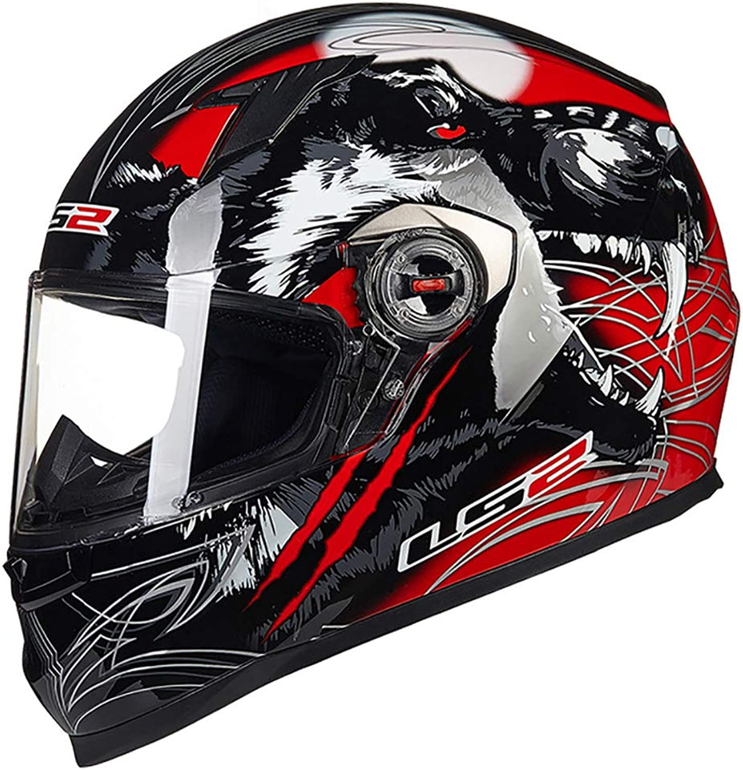 Helmet Male Motorcycle Helmet Full Helmet Full Cover Four Seasons General Motorcycle Helmet Heavy Locomotive Outdoor Riding Helmet Street Bike Racing Collision Helmet,1004,L