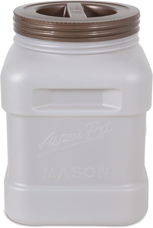 Petmate Aspen Pet Mason Food Storage Jar, Smoke Bin Bronze Lid, 40 lb