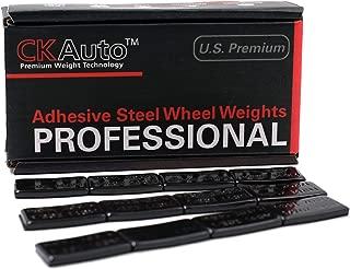 CKAuto 1/2oz, 0.5oz, Ultra Slim Low Profile, Black Adhesive Stick on Wheel Weights, 60 oz/Box, US Quality, (120pcs)