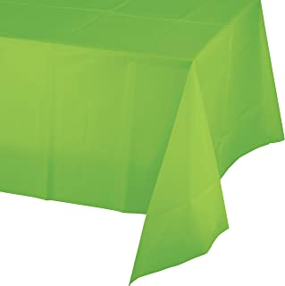 Fresh Lime Green Plastic Tablecloths, 3 ct