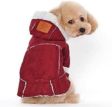Gosear Lana bereber con Capucha para Mascotas Ropa Chaqueta Abrigo de Invierno Perro Ropa Ropa Accesorios Vino S