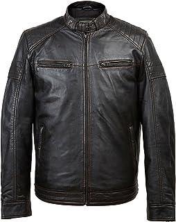 HIDEPARK Budd: Men's Black Antique Leather Jacket