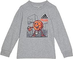 Sports Dude Long Sleeve Tee (Toddler/Little Kids)