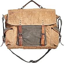 Mona B Sebastian Upcycled Canvas Messenger Bag MC-200