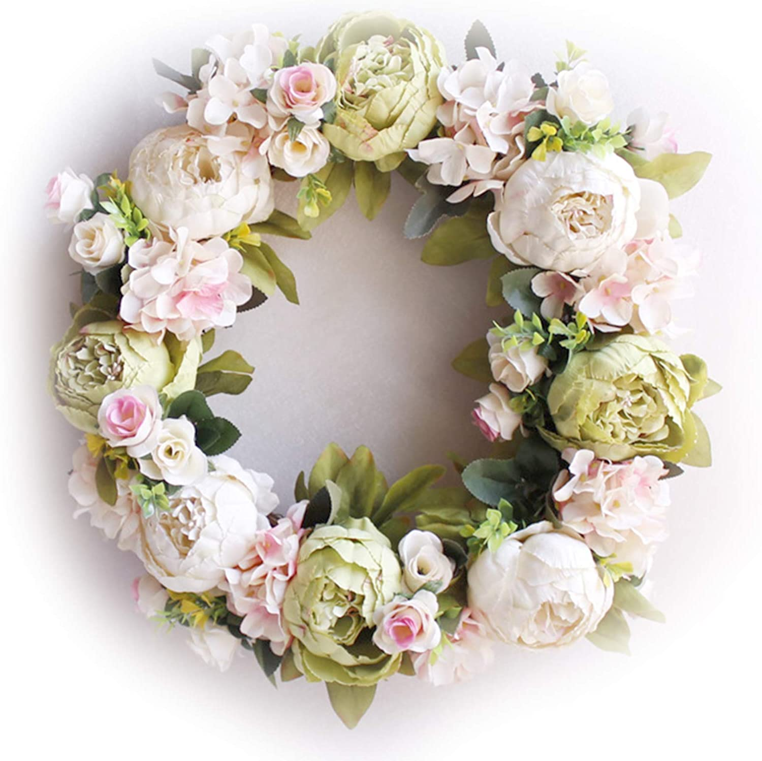 Itlovely Large Peonies Wreath Front Large-scale sale cheap Wr Door Handcrafted -