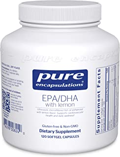 Pure Encapsulations - EPA/DHA with Lemon - Ultra-Pure, Molecularly Distilled Fish Oil Concentrate with Lemon - 120 Softgel...