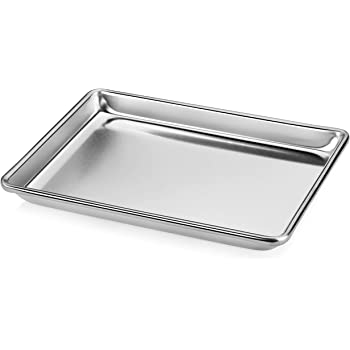 "New Star Foodservice 36831 Commercial-Grade 18-Gauge Aluminum Sheet Pan/Bun Pan, 9"" L x 13"" W x 1"" H (Quarter Size)"
