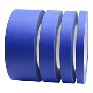 4 Pack Blue Painters Tape, 1/2