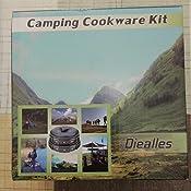 Diealles Utensilios Cocina Camping, Set Cocina Camping para Excursión, Acampada, Senderismo