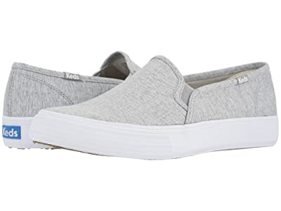 Keds Double Decker Heathered Woven (Light Gray) Women
