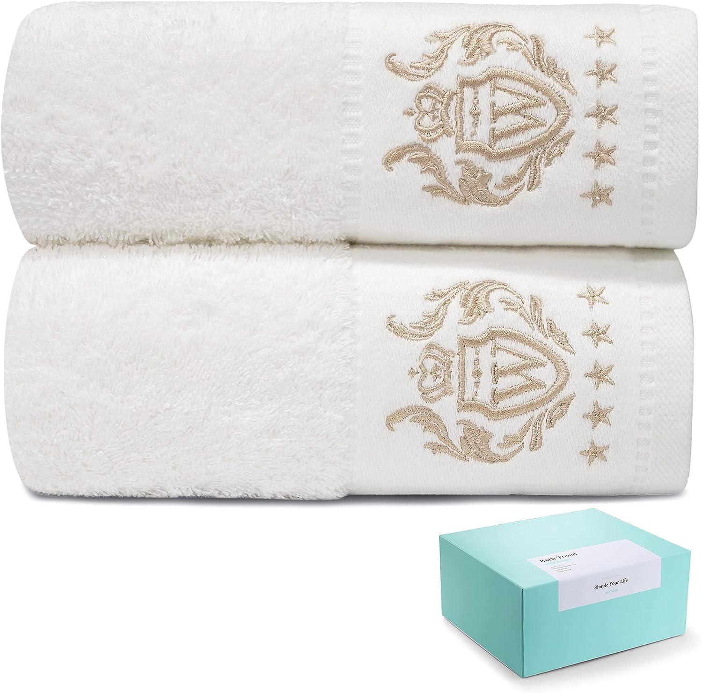 WIIKWEEK 2 Pieces Bath Towels,100% Cotton 27