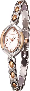 SURVAN WatchDesigner Women's Japanese-Quartz Fashion Wrist Watch Silver Rose Gold Tone Stainless Steel Strap