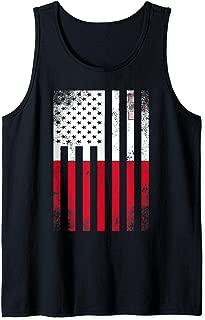 Half Maltese Flag   Vintage American Inside Me USA Gift Tank Top