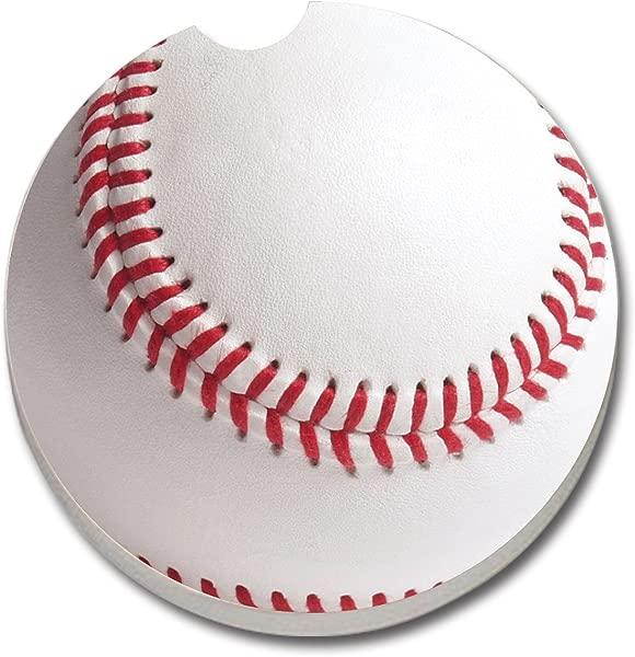 CounterArt Absorbent Stoneware Car Coaster Baseball 12228 1 COUNT