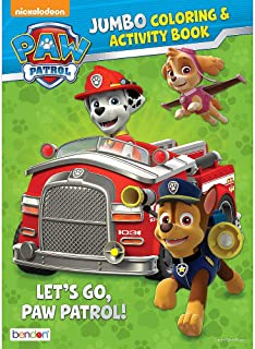 Bendon Publishing Paw Patrol Let's Go Jumbo Color and Activity Book - 64 Pages