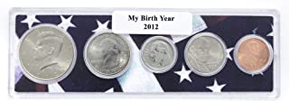 2012-5 Coin Birth Year Set in American Flag Holder Uncirculated
