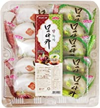 Korean Traditional Monaka Assortment Gift Box, Green Tea and Chestnut 300g (1 Pack)