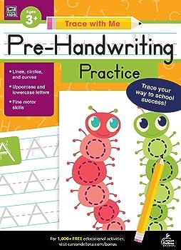 Carson Dellosa | Trace with Me Pre-Handwriting Practice Activity Book | Grades Preschool-2 Printable