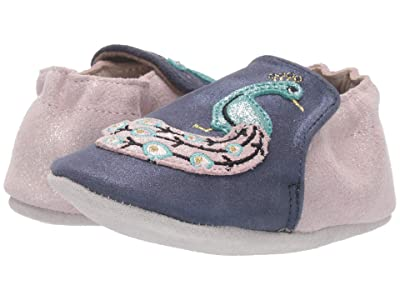 Robeez Penelope Peacock Soft Sole (Infant/Toddler) (Navy/Pink) Girl