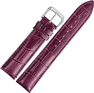Cinturino in Pelle Blu Rosso Nero Rosa Marrone Viola Verde Arancia Bianca Scuro Con Cinturino Di Ricambio Con Fibbia Classica