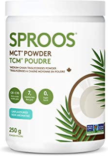 Sproos MCT Powder | Keto, Vegan and Non-GMO | Unflavoured and Unsweetened - 250 g Tub
