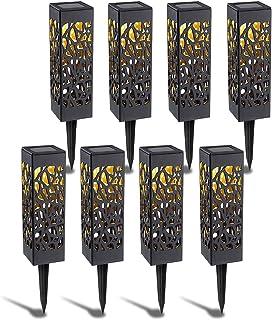 Punvot Lumière Solaire Extérieur Jardin, Lampe Solaire de Jardin, Exterieure Étanche Lumiere Lampe Jardin Sans Fil LED Lum...