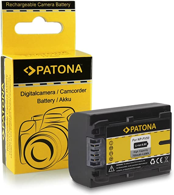 Bateria NP-FV50 para Sony CX Serie | HDR-HC3 | HDR-HC7 | DSC-HX1 | SR Serie | SX Serie | HDR-TG1 | HDR-TG5 | HDR-TG5/E | Sony HDR-UX5 | HDR-UX7 | HDR-XR150 | HDR-XR150E | HDR-XR350...