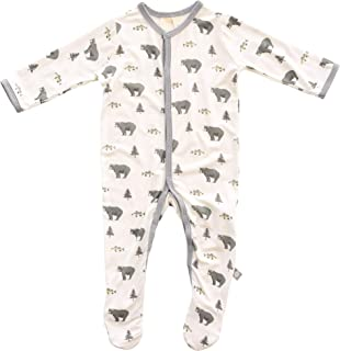 Footies - Baby Footed Pajamas Made of Soft Organic Bamboo Rayon Material - 0-24 Months - Printed Colors