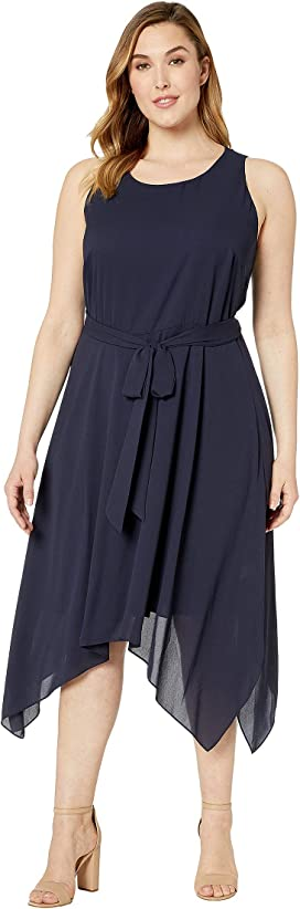 Karen Kane Plus Plus Size Handkerchief Hem Dress at Zappos.com