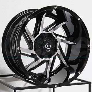 Vision 422 Prowler 20x12 6x139.7 -51mm Black/Machined Wheel Rim