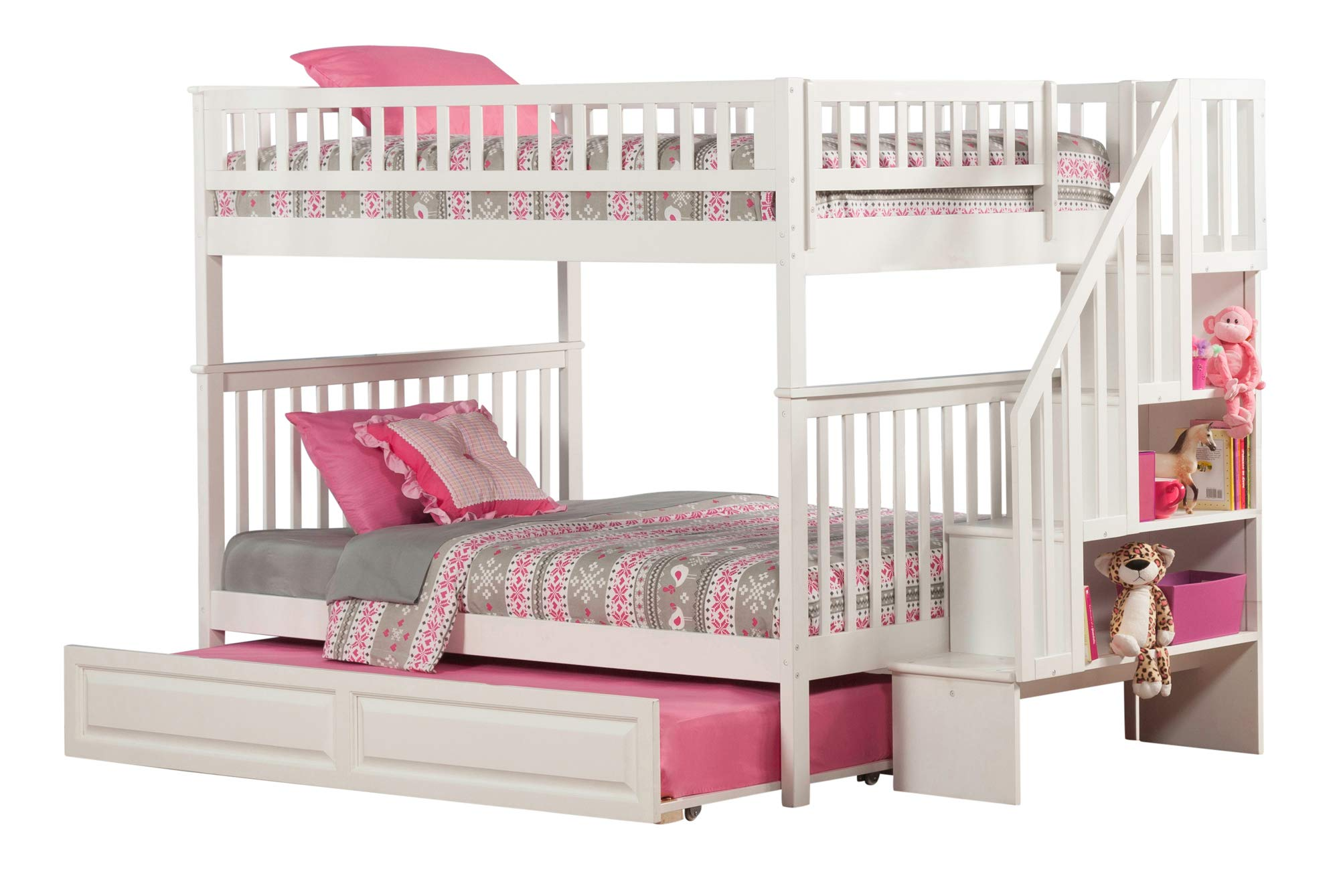 Atlantic Furniture Woodland - Litera para Escalera con Cama Nido: Amazon.es: Juguetes y juegos