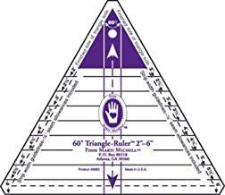 Marti Michell 60 Degree Triangle Ruler, 2-Inch to 6-Inch