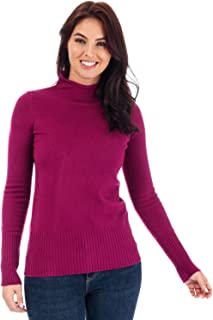 French Connection Womens Babysoft Roll Neck Jumper in Hollyhock.
