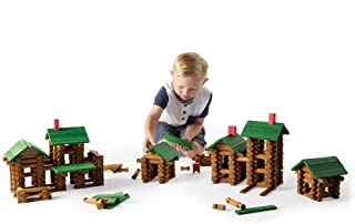 Fat Brain Toys Timber Log Builders - 450 Piece Set Building & Construction for Ages 3 to 9