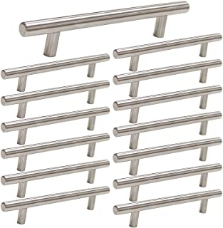 3 inch T Bar Kitchen Cabinet Handles Brushed Nickel Drawer Pull 15 Pack - Homdiy HD201 Stainless Steel Drawer Pulls Cabine...