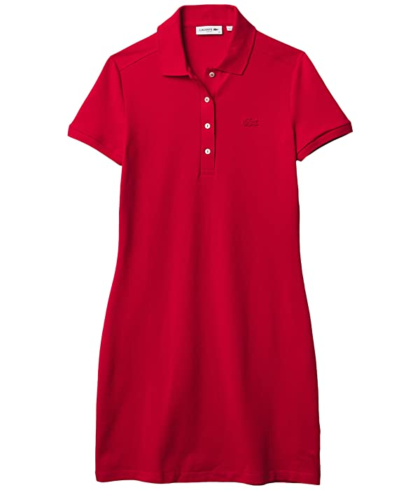 Lacoste Short Sleeve Slim Fit Stretch Pique Polo Dress