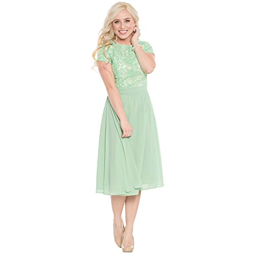 f694ddaaa3 Jen Olivia Lace   Chiffon Modest Dress