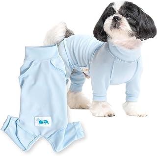 犬猫の服 full of vigor 獣医師と共同開発 犬用 皮膚保護服スキンウエア(R)(旧名:エリザベスウエア) 小型犬用 男の子 雄用 カラー 7 サックス サイズ NSS フルオブビガー