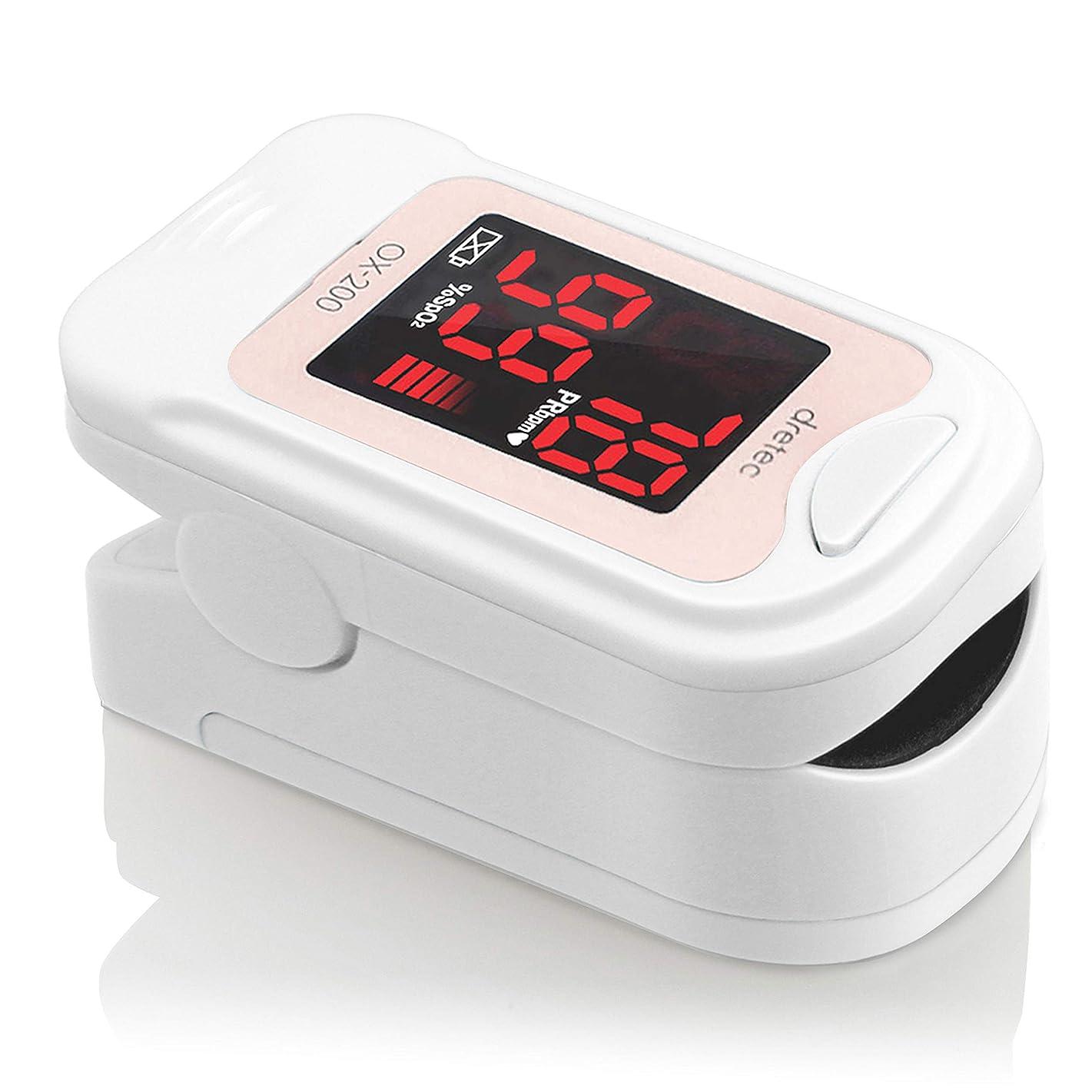 食欲ことわざ略すdretec(ドリテック) パルスオキシメーター 酸素濃度計 医療用 看護 家庭用 介護 国内検査済 OX-200PK(ピンク)