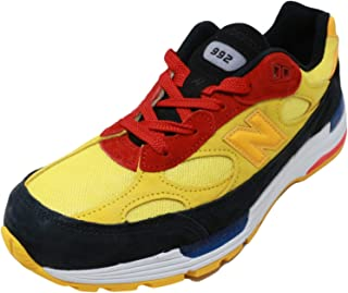 New Balance 992 Made in USA M992DM Black Yellow Red (US 9.5 - Black)